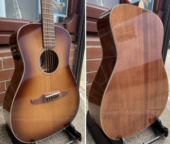 Fender Malibu California Series Aged Cognac Burst